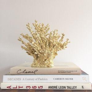 Threshold Gold Coral Wreath Decor